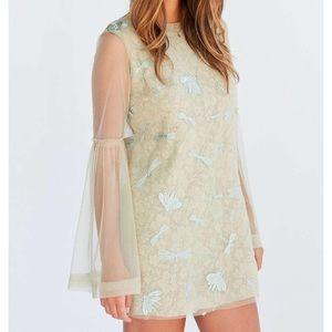 Kimchi blue soft landing embroidered mesh dress